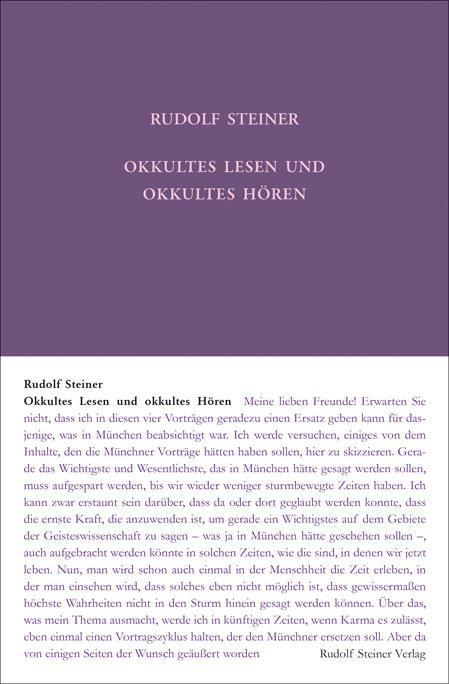 Okkultes Lesen und okkultes Hören