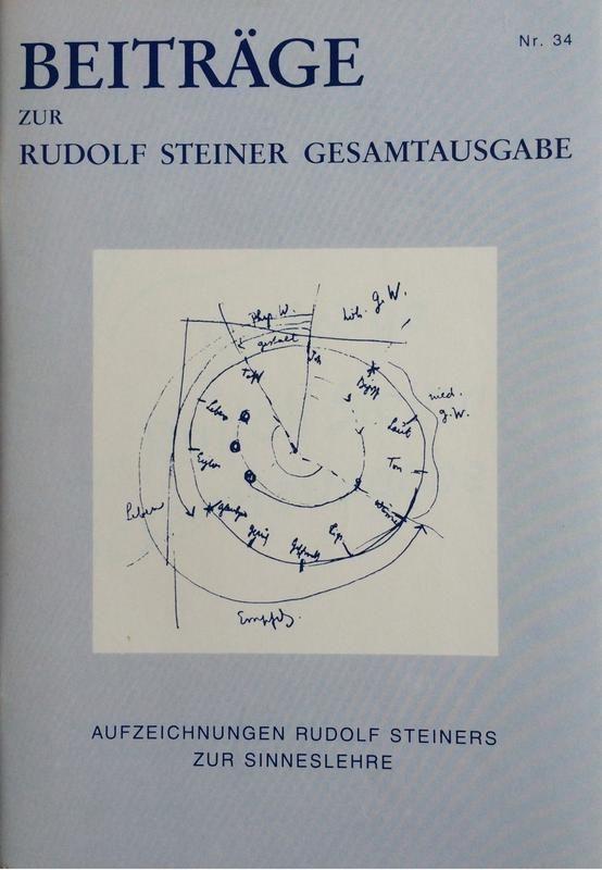 Beiträge Heft 034 Aufzeichnungen Rudolf Steiners zur Sinneslehre