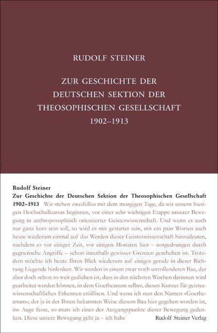 Zur Geschichte der Deutschen Sektion der Theosophischen Gesellschaft 1902–1913