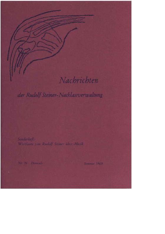 Beiträge zur Rudolf Steiner Gesamtausgabe Heft 026