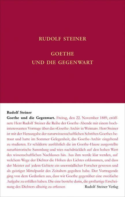 Goethe und die Gegenwart