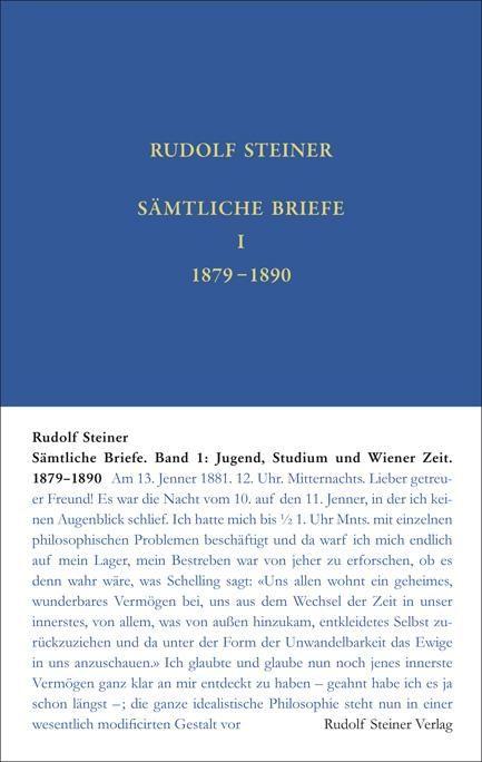 Sämtliche Briefe Band 1: Wiener Zeit 1879 – 28. September 1890