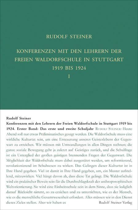 Konferenzen mit den Lehrern der Freien Waldorfschule 1919 bis 1924