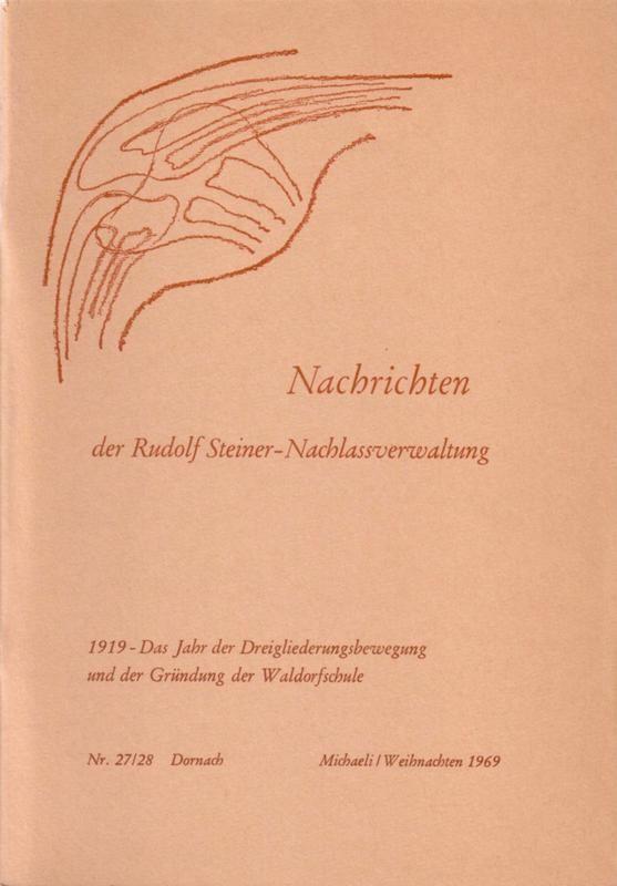 Beiträge Heft 027/28 1919 – Das Jahr der Dreigliederungsbewegung und der Gründung der Waldorfschule