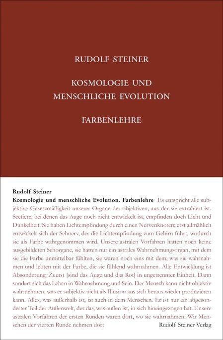 Kosmologie und menschliche Evolution. Farbenlehre